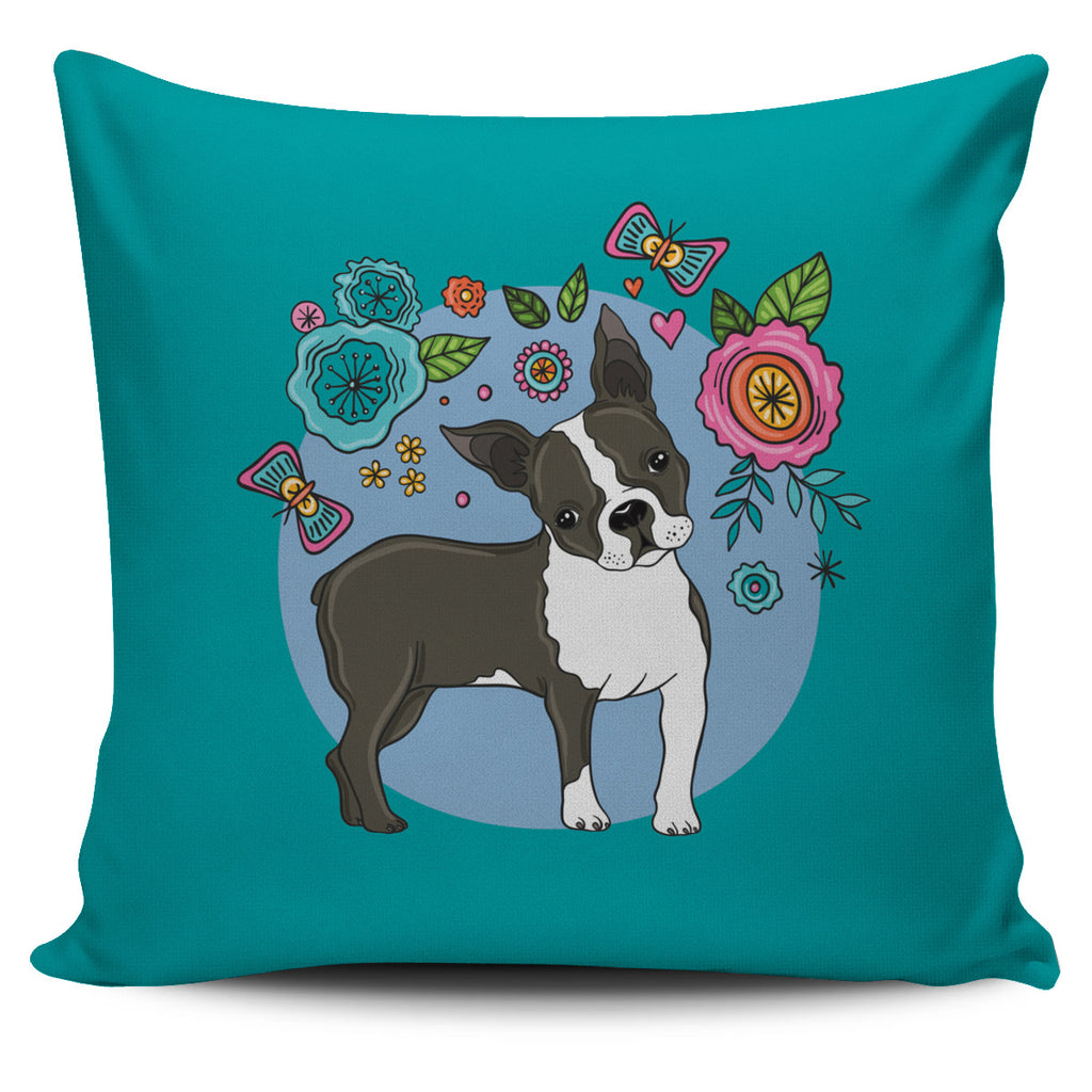 Boston Cutie Pie Pillow Cover