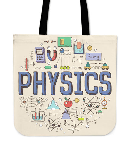 Physics Pattern Linen Tote Bag