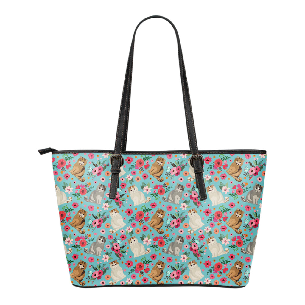 Exotic Short Hair Flower Tote Bag