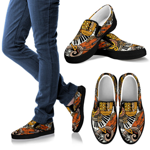 Musical Intrument Slip Ons
