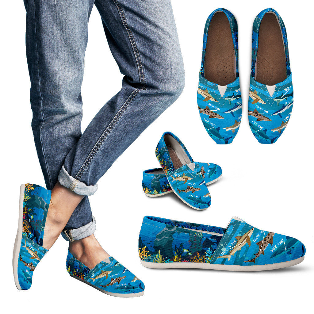 Shark Lovers Casual Shoes-Clearance