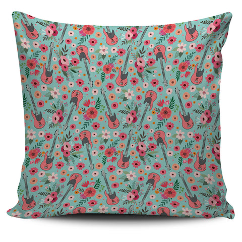 Electric Guitar Flower Pillow Cover