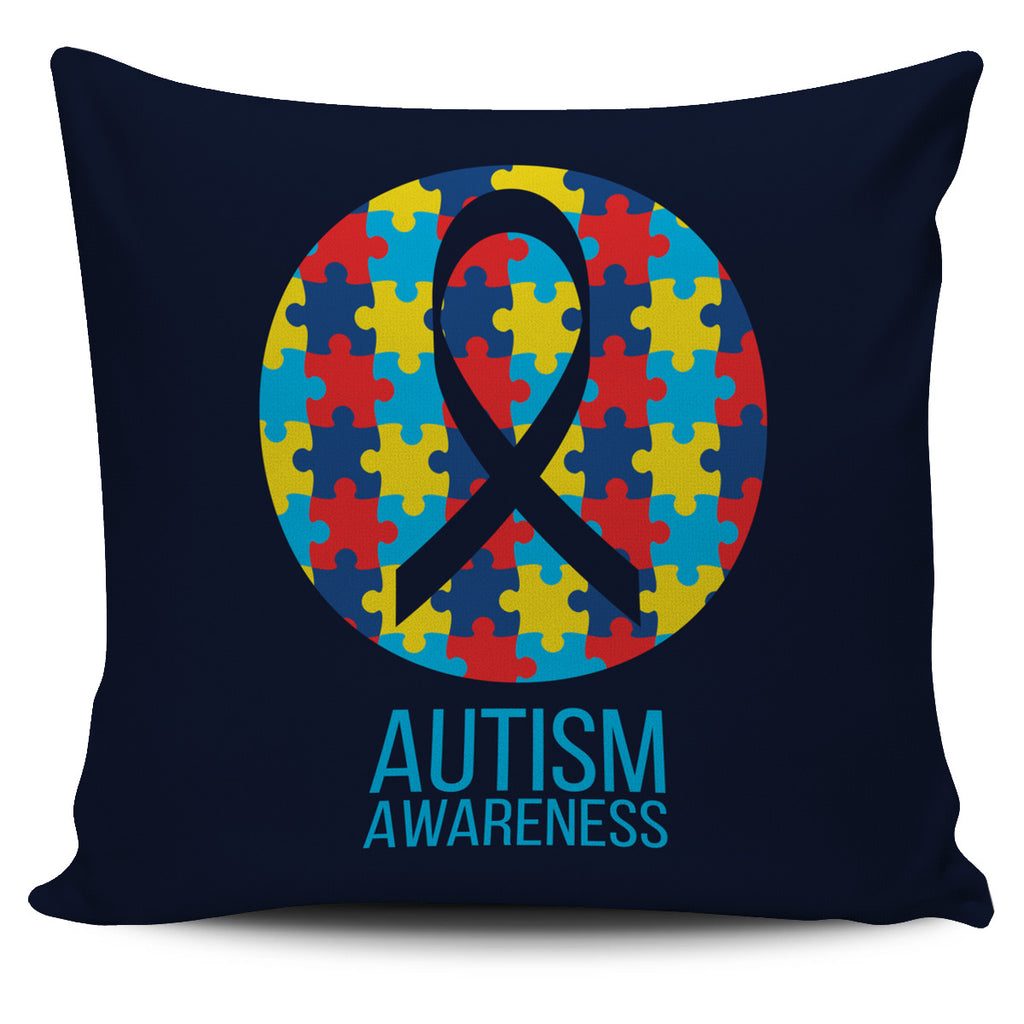 Colorful Autism Pillow Cover