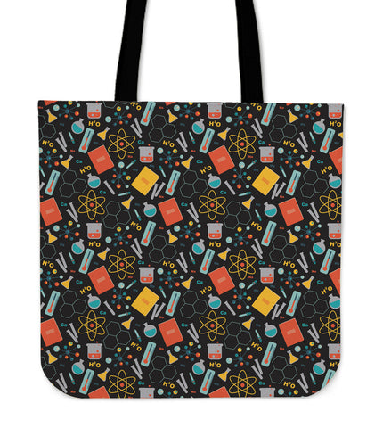 Scientist Pattern Linen Tote Bag