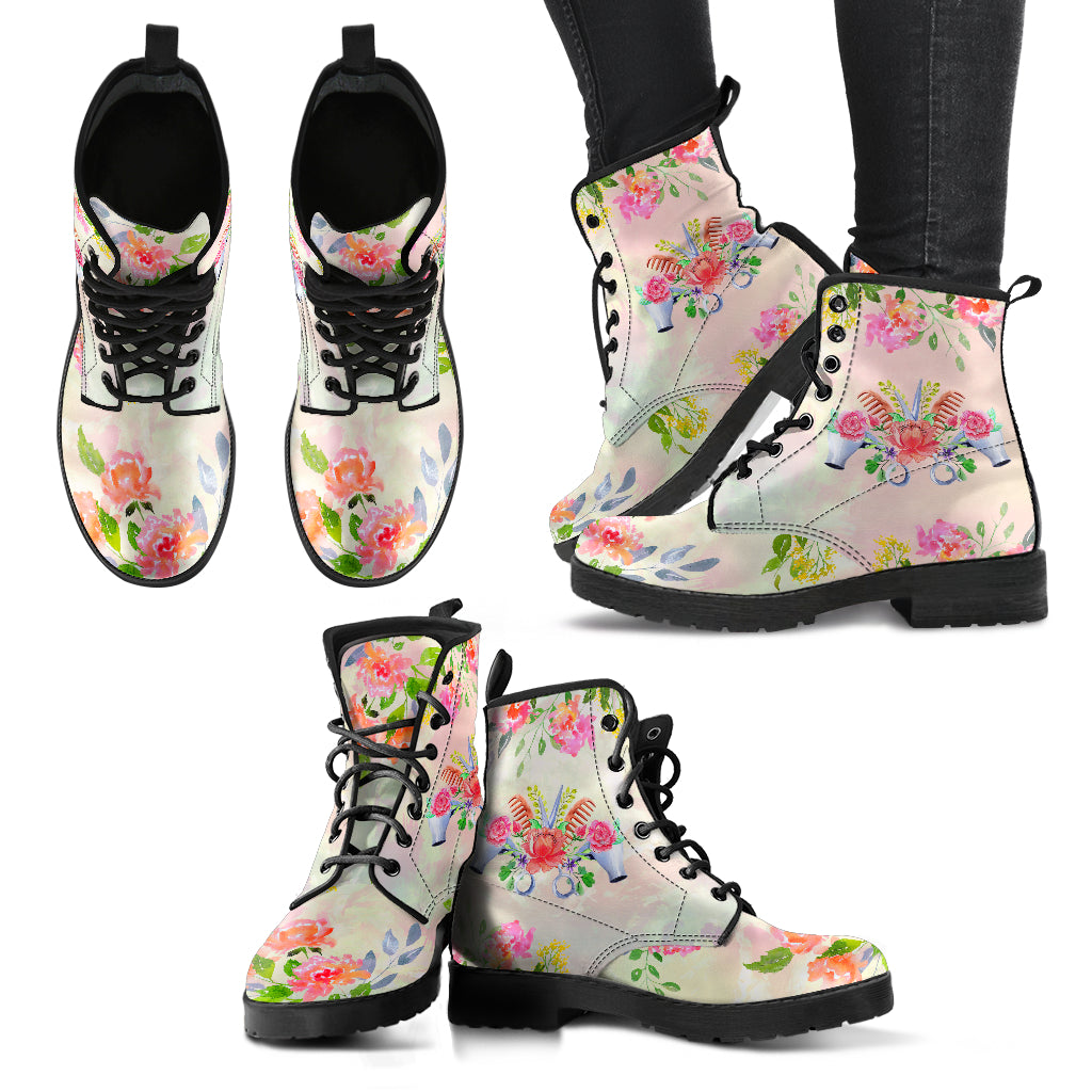 Floral Hairstylist Boots