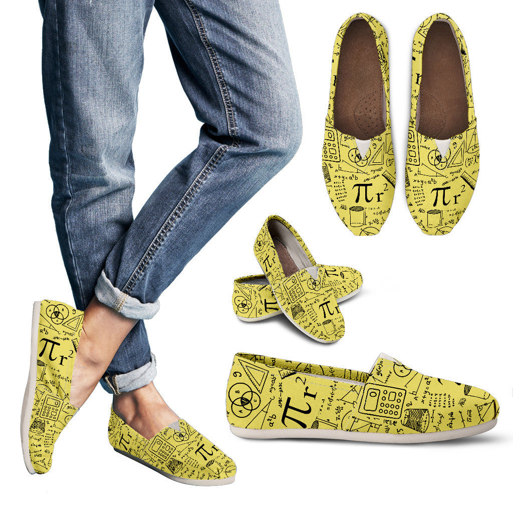 Math Pattern Casual Shoes