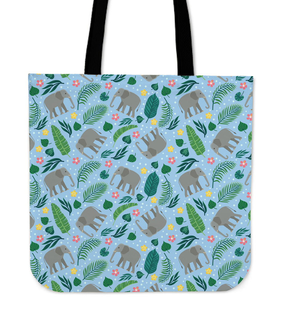 Elephant Party Linen Tote Bag