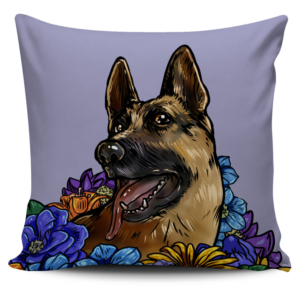Illustrated German Shepherd Pillow Cover