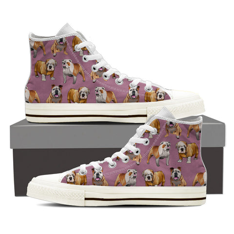 English Bulldog Pattern Shoes