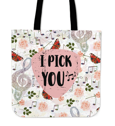I Pick Linen Tote Bag