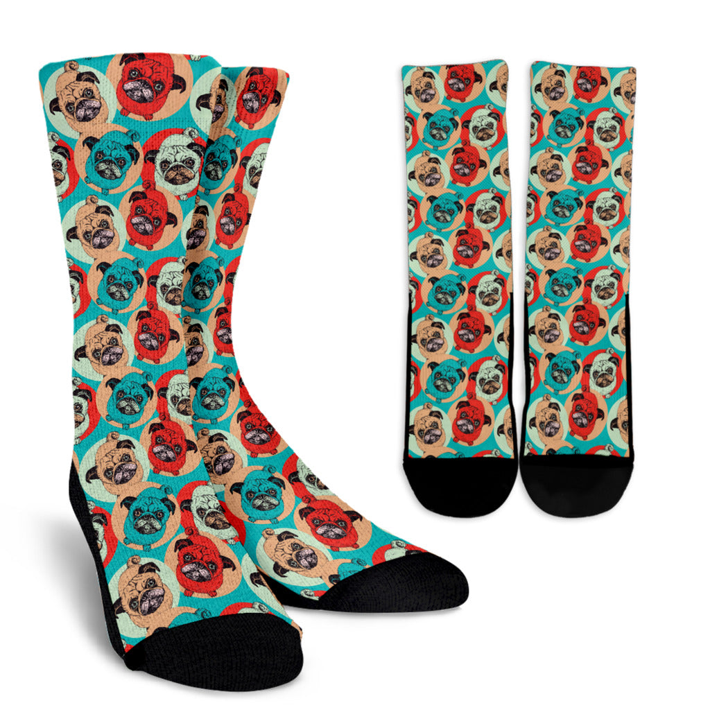 Pug Pop Art Socks