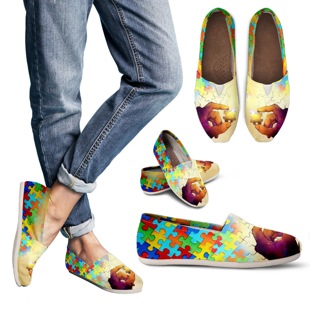 Artistic Autism Awareness Casual Shoes-Clearance