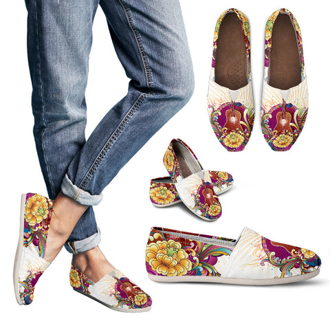 Vibrant Guitar Casual Shoes