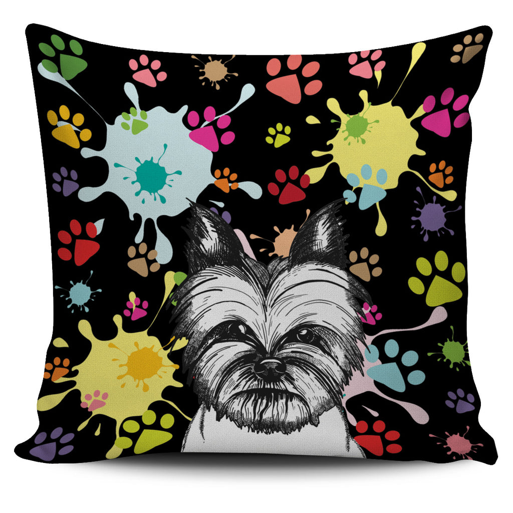 Artsy Yorkie Pillow Cover