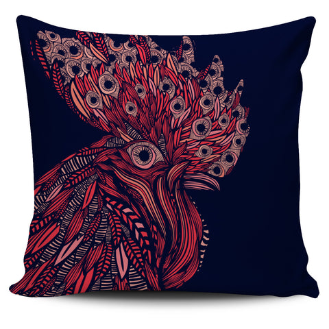 Artsy Rooster Pillow Case