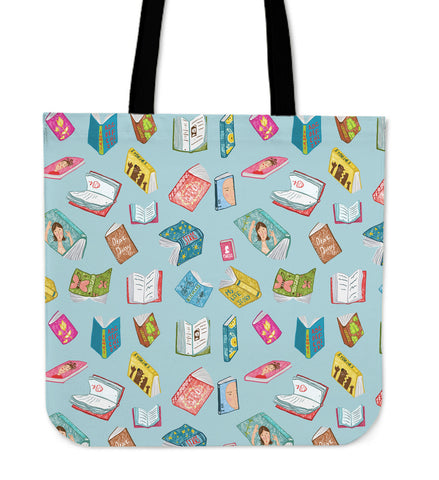 Levitating Books Linen Tote Bag