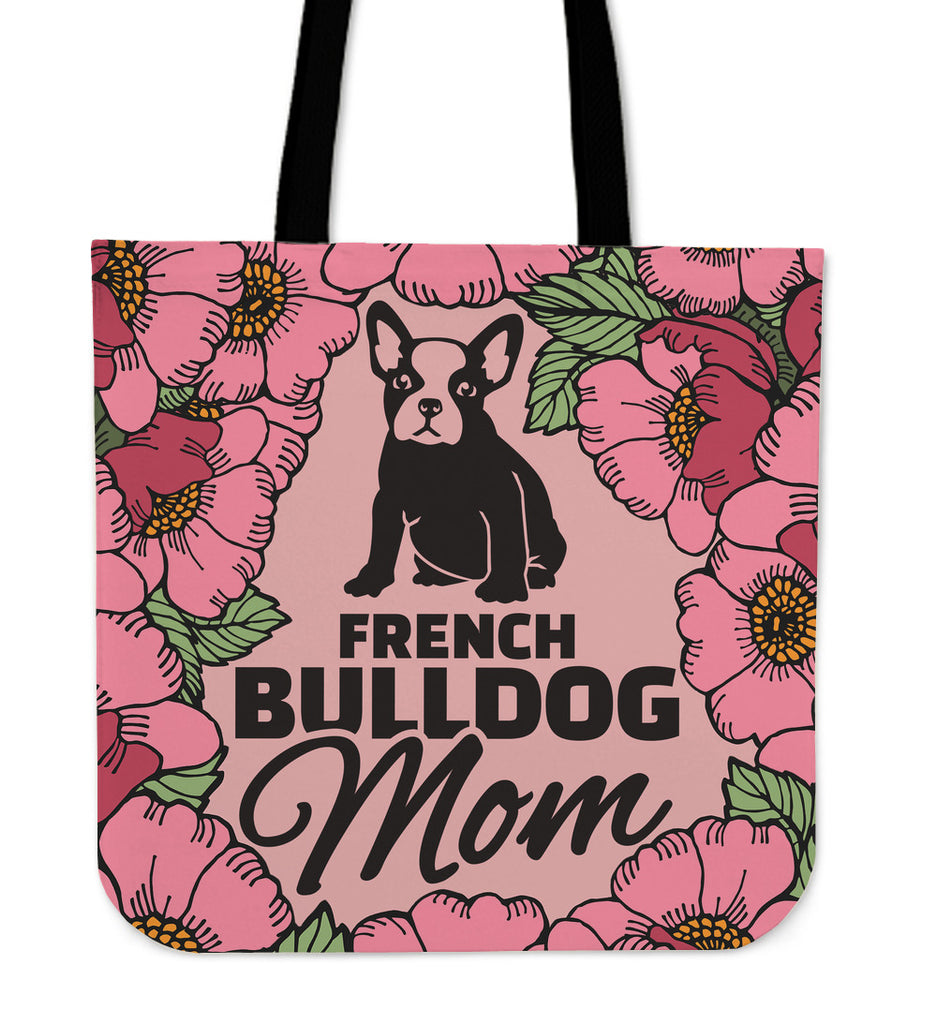 French Bulldog Mom Linen Tote Bag