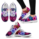 Floral Knitting Sneakers-Clearance
