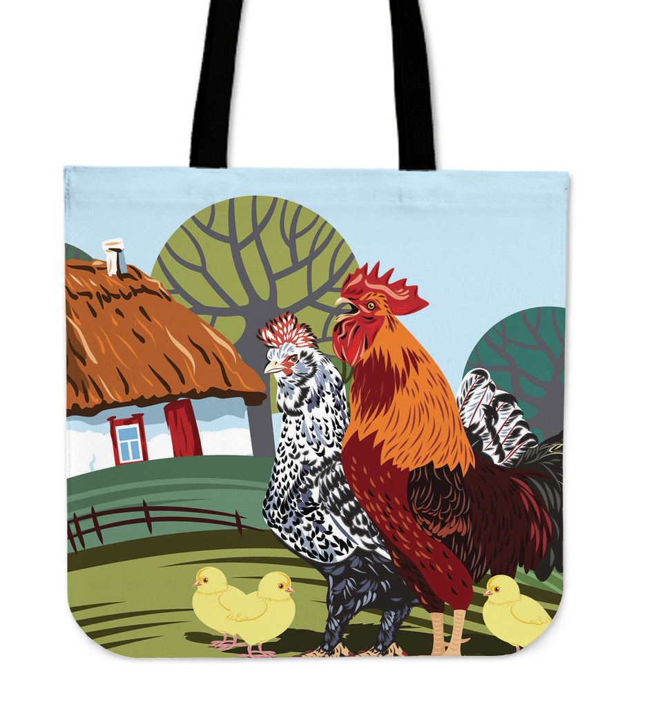 Rural Landscape Linen Tote Bag