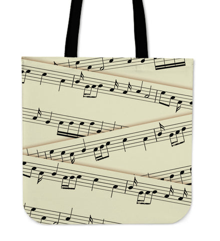 Sheet Music Linen Tote