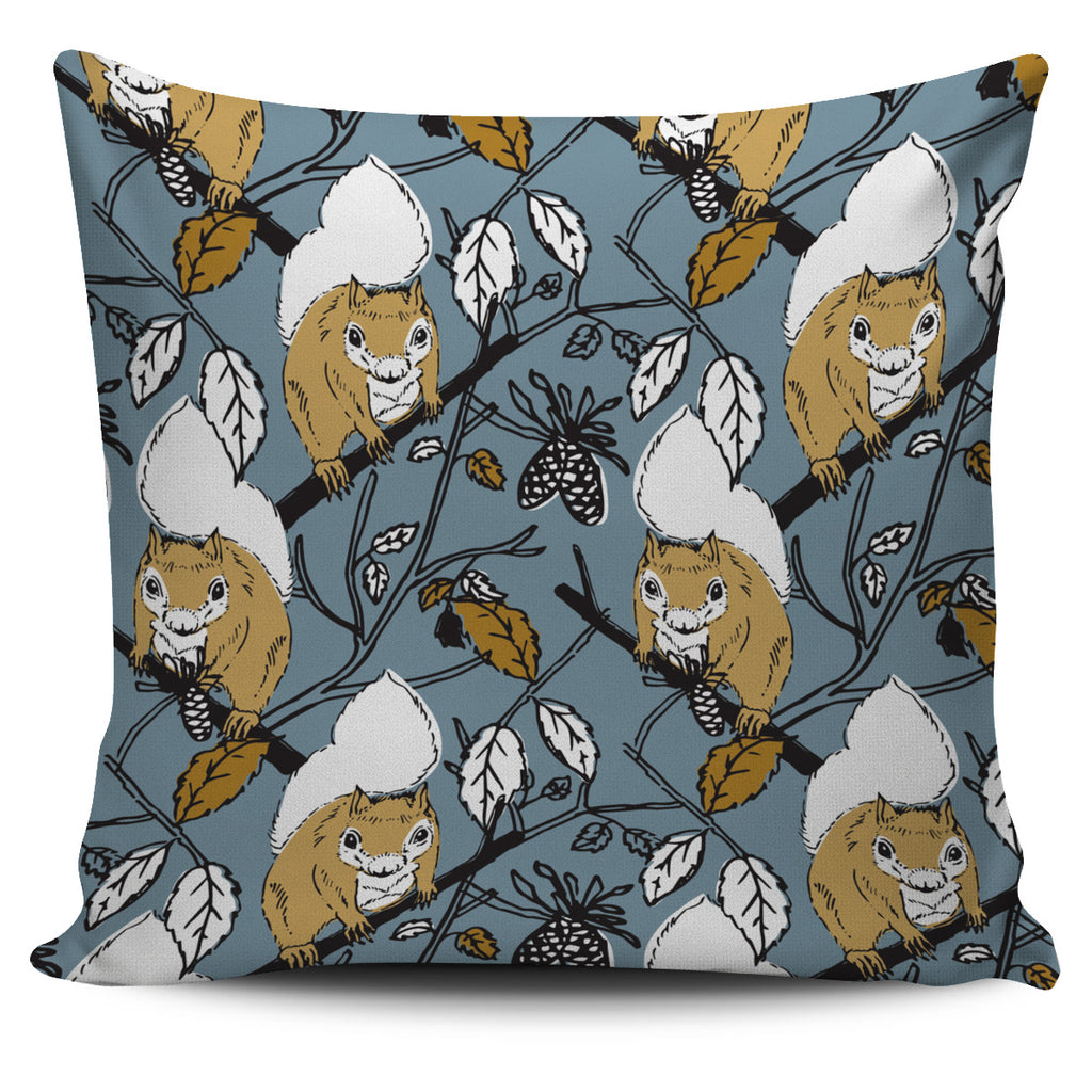 Forest Squirrel Pillow Cover