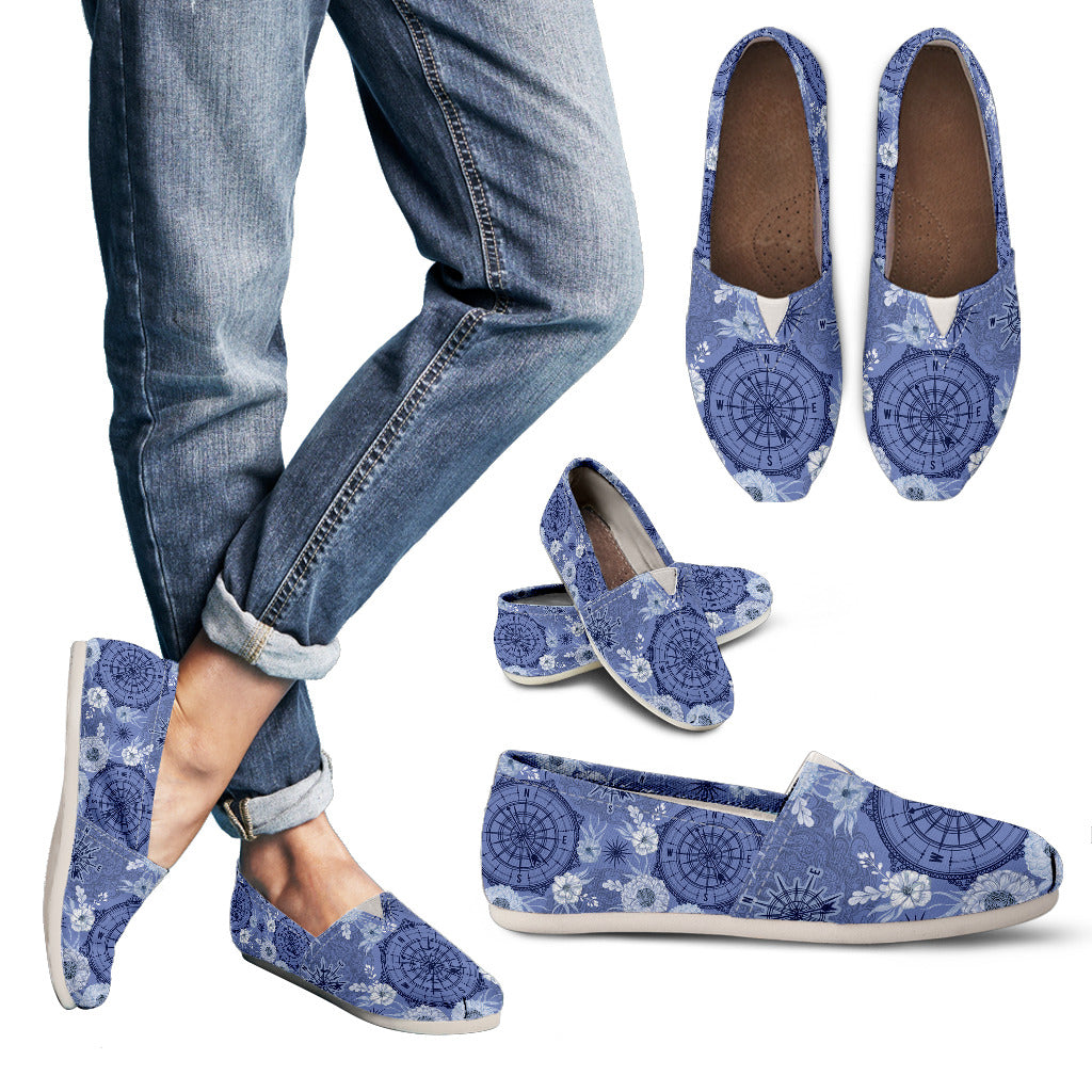 Floral Compass Casual Shoes-Clearance