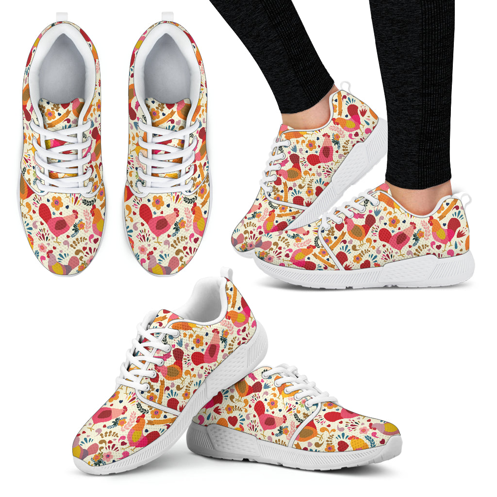 Adorable Chicken Athletic Sneakers