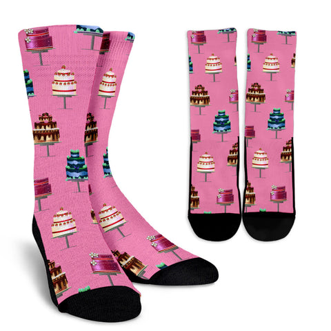 Cake Decorating Pattern Socks
