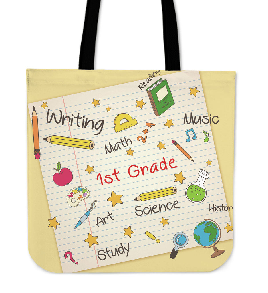 Elementary School Teacher Linen Tote Bag