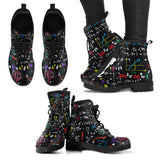 Colorful Math Formula Boots-Clearance