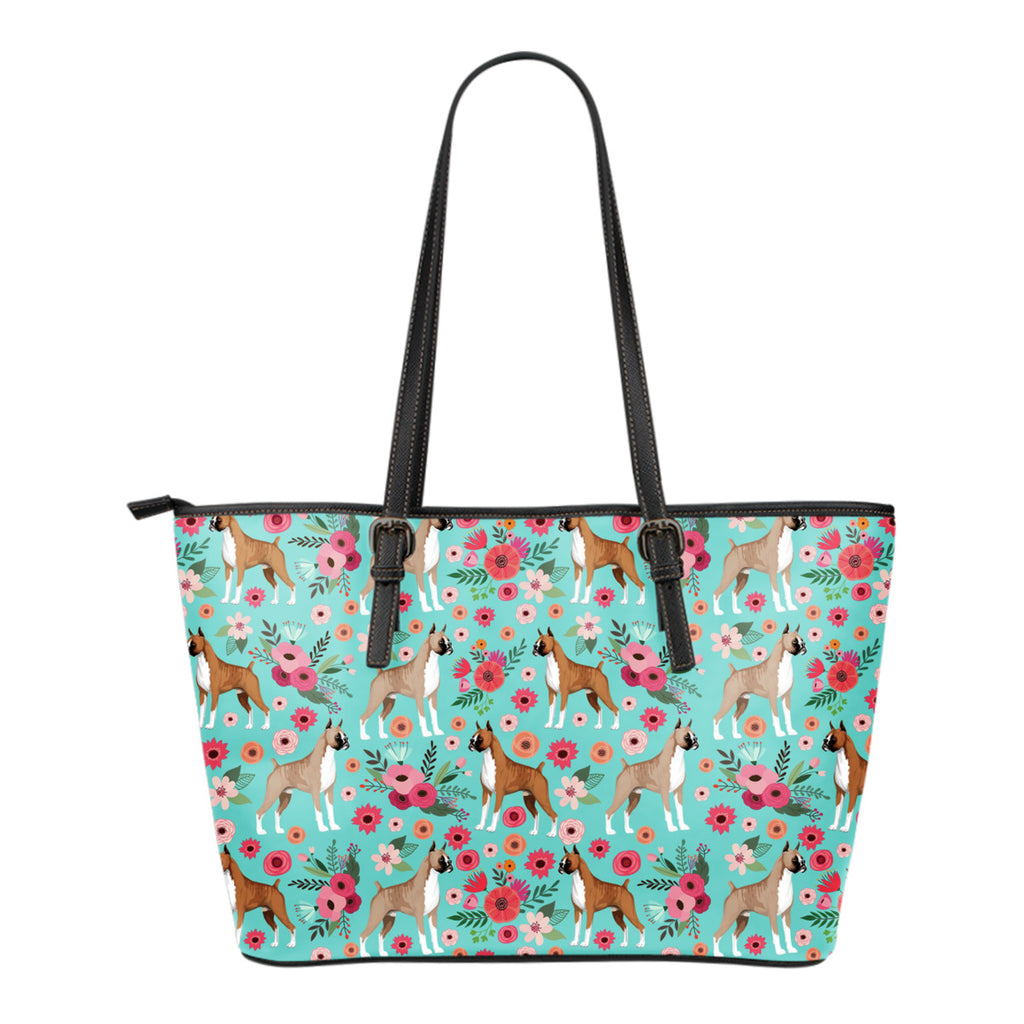 Boxer Flower Tote Bag