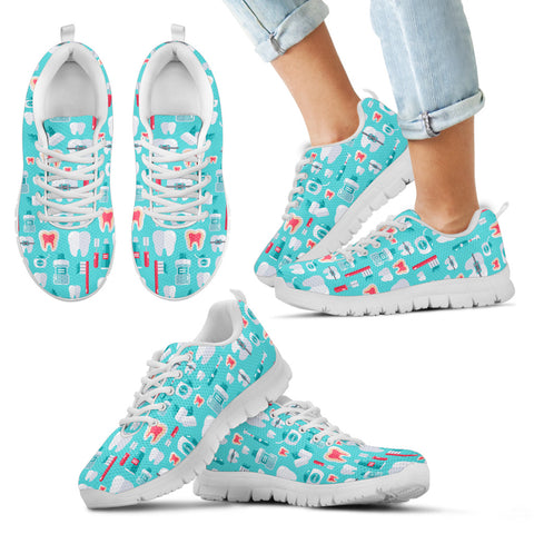 Kids Dentist Pattern Sneakers