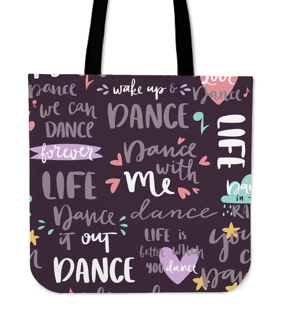 Dance It Out Linen Tote Bag
