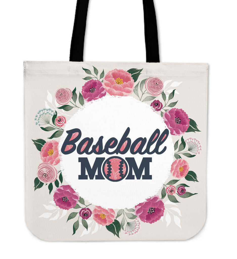 Baseball Mom Linen Tote Bag
