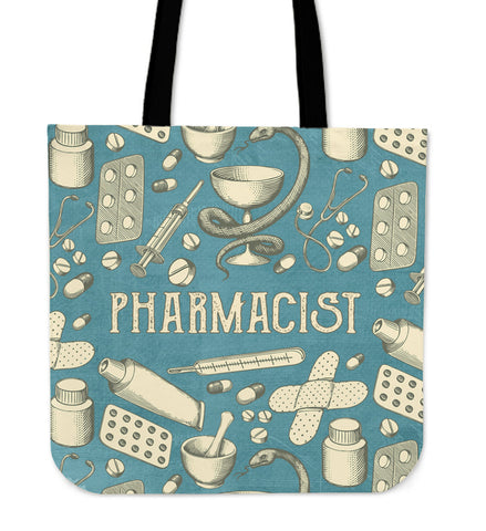 Vintage Pharmacist Linen Tote Bag