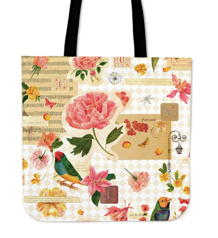 Nature Music Linen Tote Bag