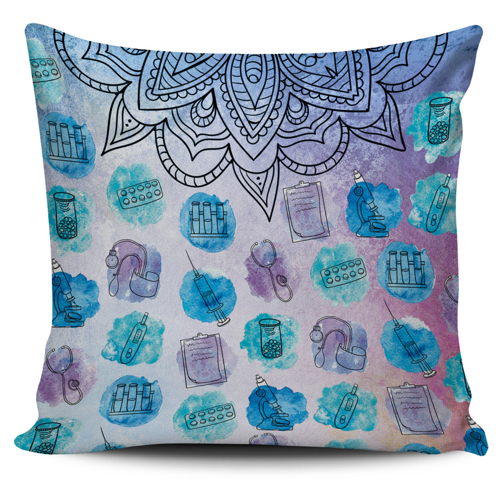Watercolor Medical Set Pillow Cover