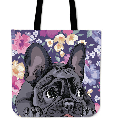 French Bulldog Cutie Linen Tote Bag