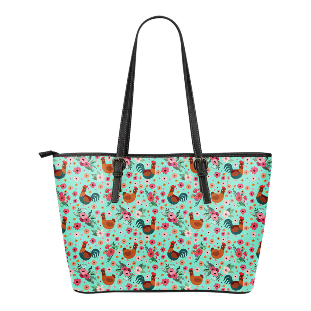 Chicken Flower Tote Bag