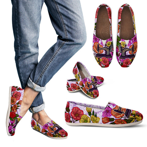 Sewing Machine Floral Casual Shoes-Clearance