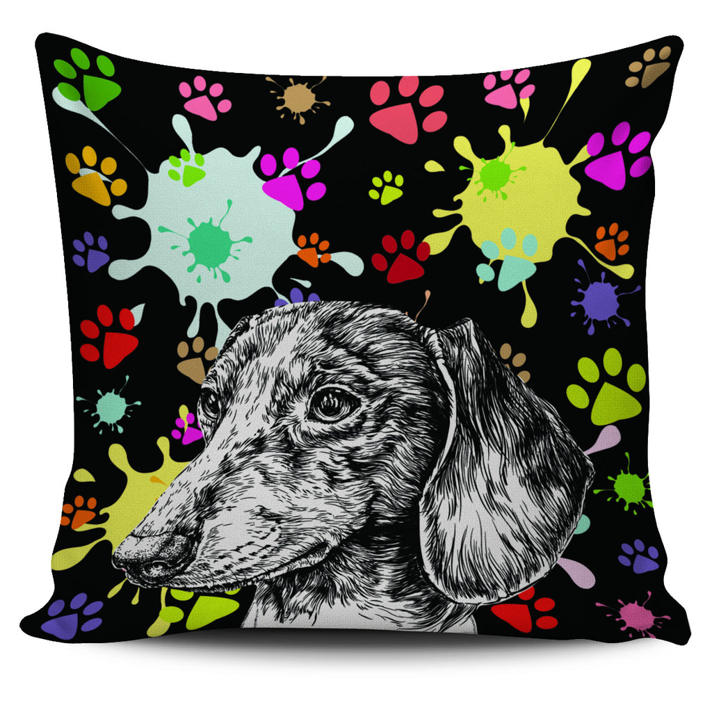 Artsy Dachshund Pillow Cover