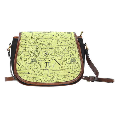 Math Pattern Saddle Bag