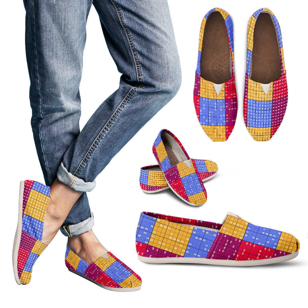 sudoku puzzle casual shoes groove bags