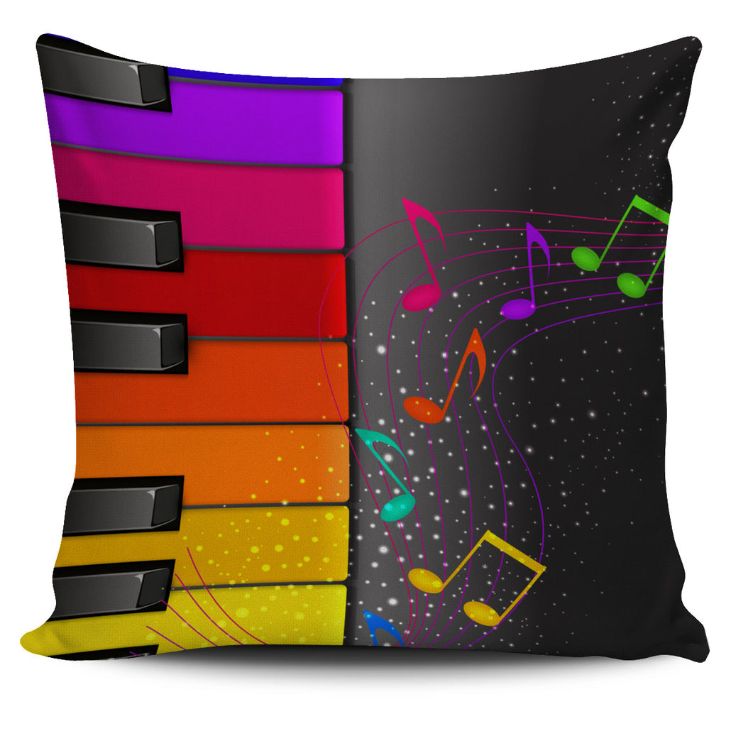 Colorful Piano Pillow Cover