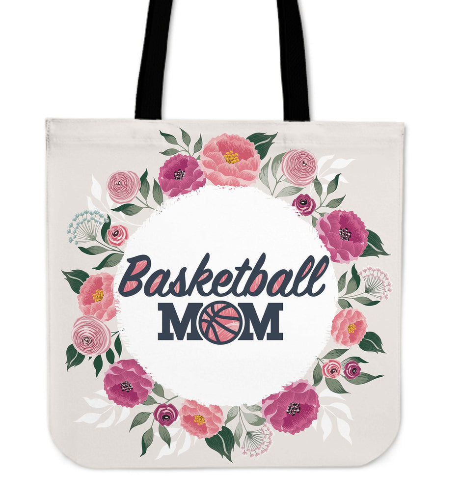 Basketball Mom Linen Tote Bag