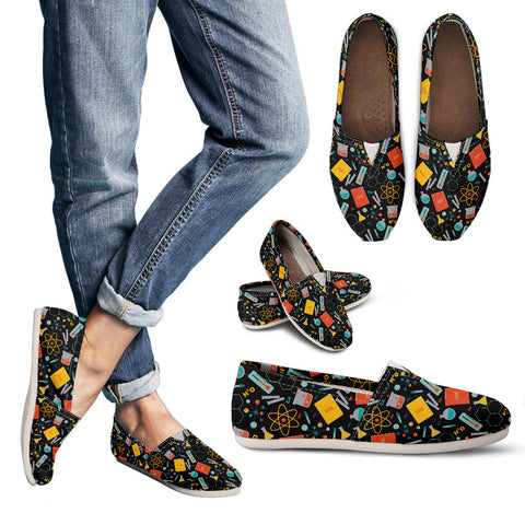 Scientist Pattern Casual Shoes