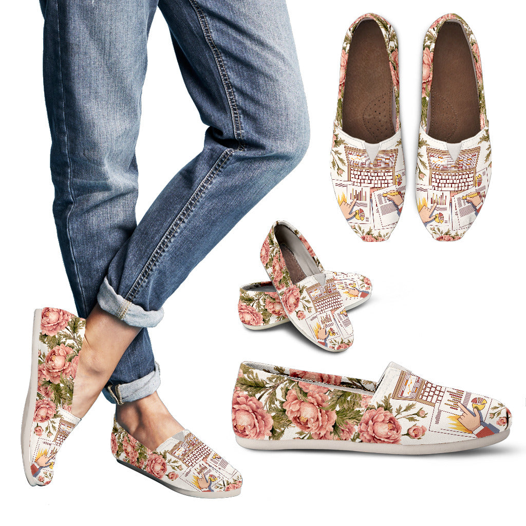 Floral Accountant Casual Shoes
