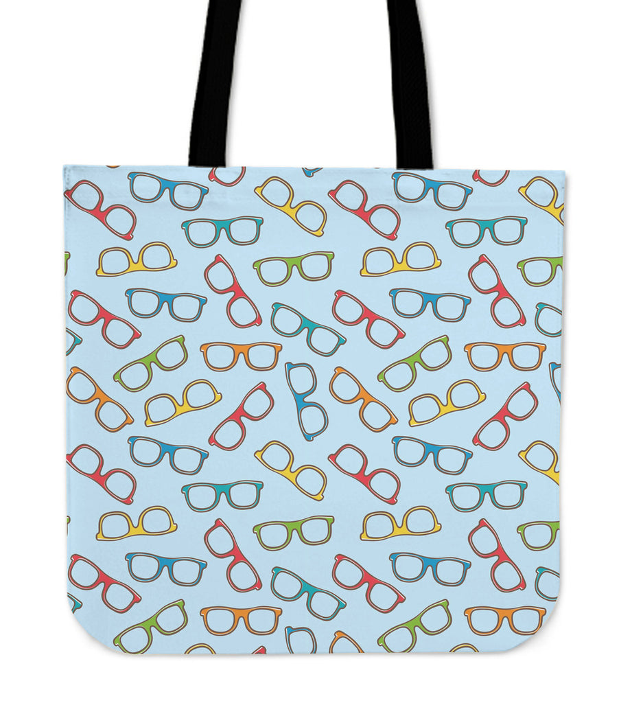 Eyeglasses Pattern Linen Tote Bag