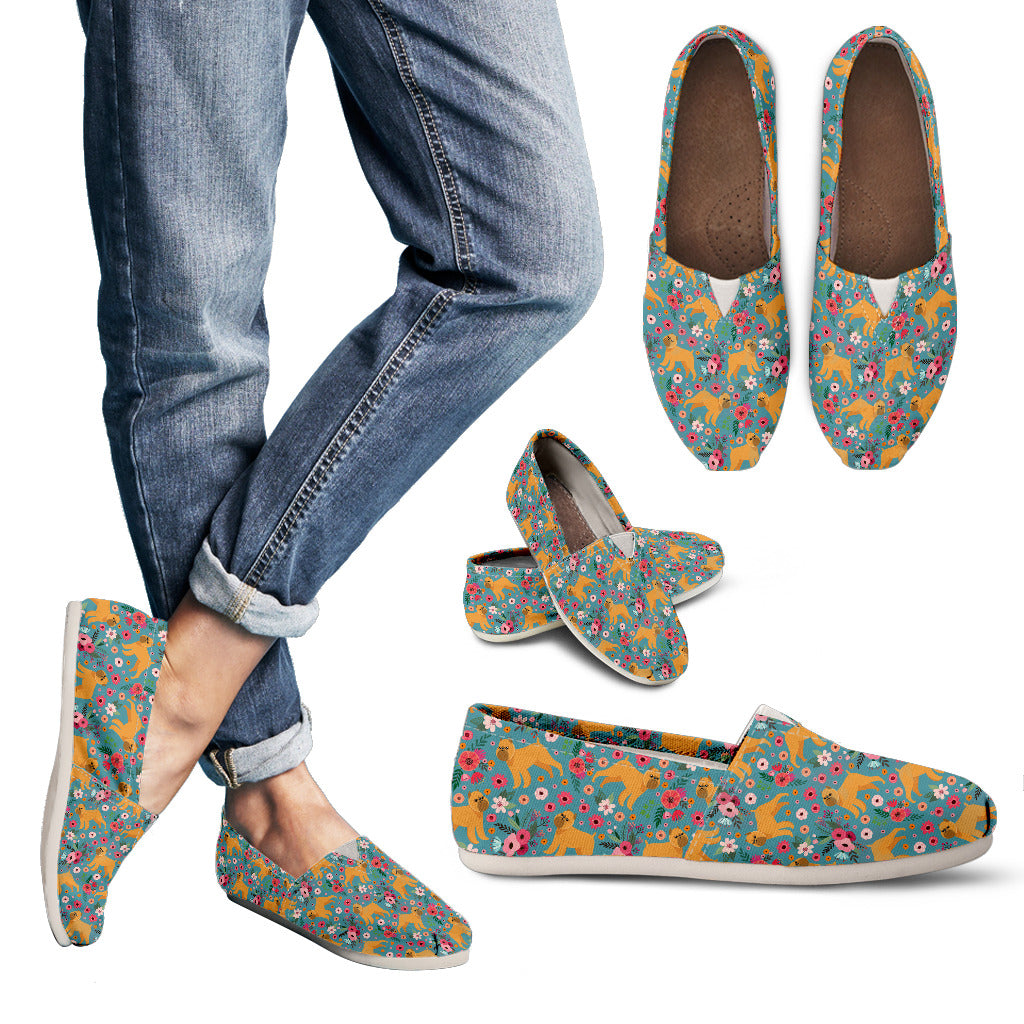 Brussels Griffon Flower Casual Shoes-Clearance