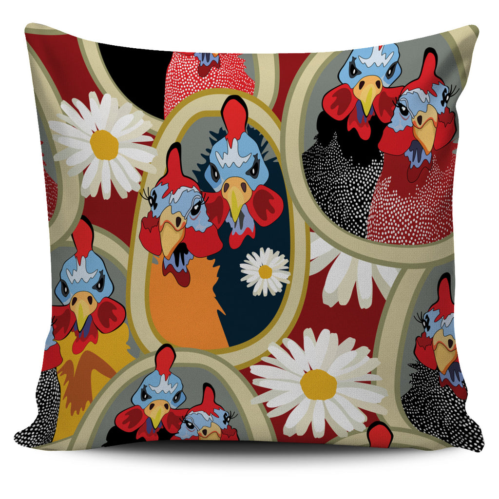 Couple Ol Chickens Pillow Case